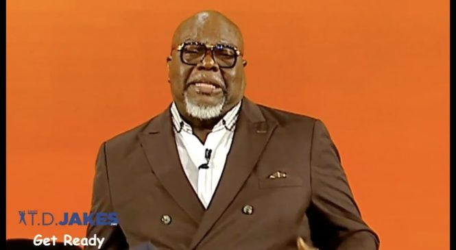 TD Jakes Sep 23 – God has called us to be a prophet not a pacifist !!!